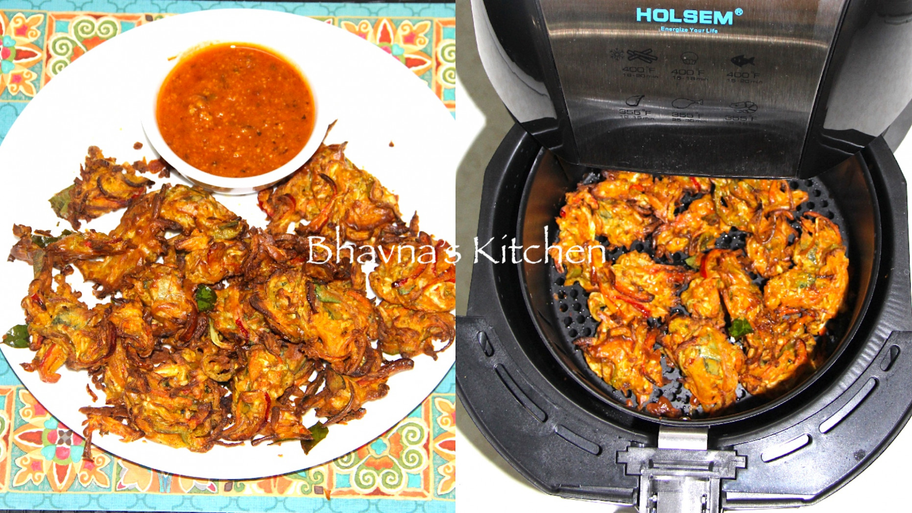 Pakore or Bhajiya (Fritters) - air fryer recipes vegetarian indian