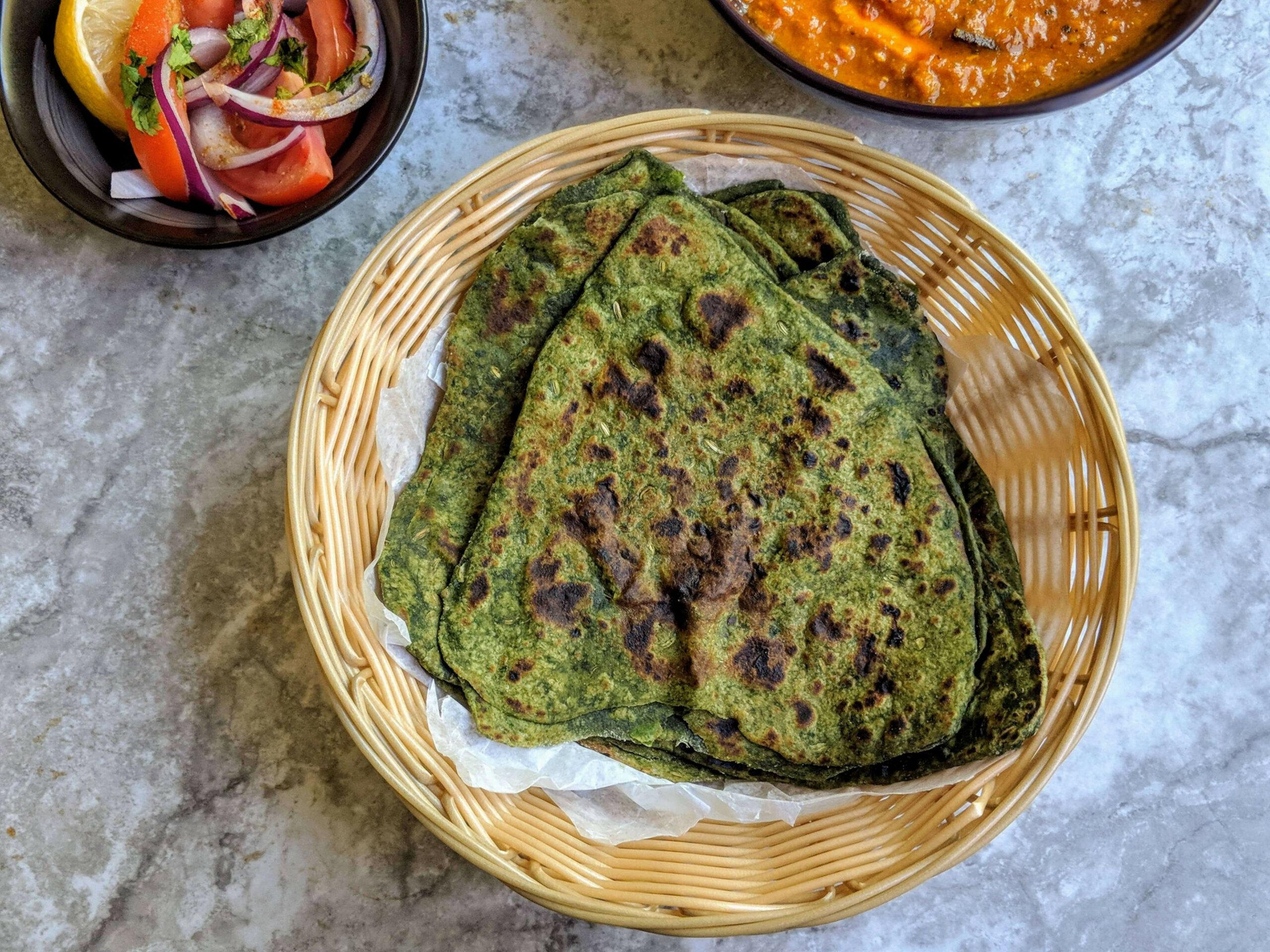 Palak Paratha Recipe | Spinach Paratha - food recipes step by step