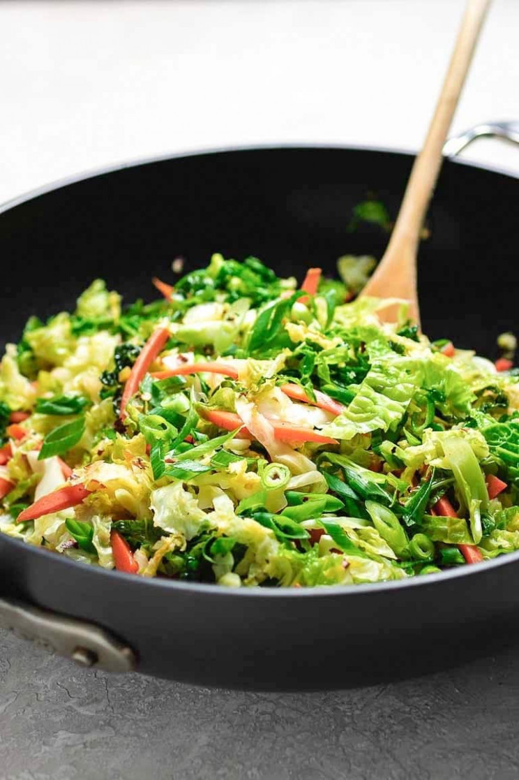 Paleo Chinese Cabbage Stir-Fry (Whole13, Vegan) | I Heart Umami - cabbage recipes vegetarian