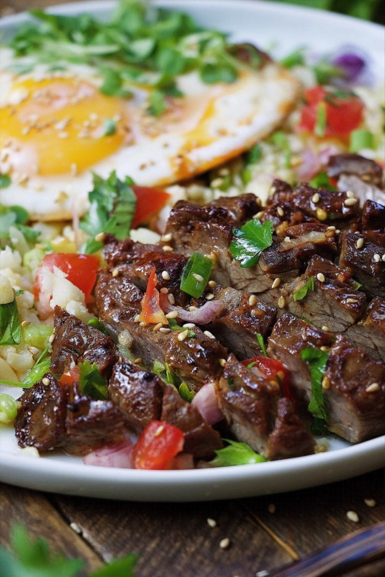 Paleo Filipino Skirt Steak Cauliflower Fried Rice ..