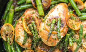 Paleo Lemon Honey Chicken & Asparagus Skillet – Tastes Lovely – Dinner Recipes Dairy And Gluten Free