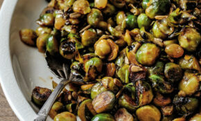 Pan Fried Brussels Sprouts With Pickled Raisins And ..