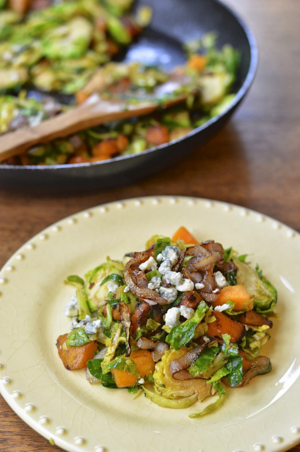 Pan Roasted Brussels Sprouts with Butternut Squash - butternut squash recipes dinner