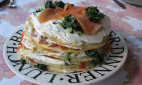 Pancake Torte With Salmon  And Spinach – Smoked Salmon Recipes Dinner
