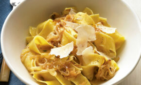 Pappardelle With Caramelized Onions And Parmesan – Lunch Recipes Vegetarian