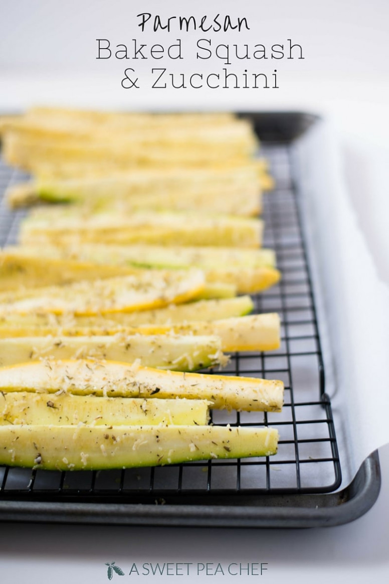 Parmesan Baked Squash And Zucchini Spears - Baked Zucchini Recipes Healthy