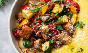 Parmesan Polenta with Roasted Vegetables | Familystyle Food