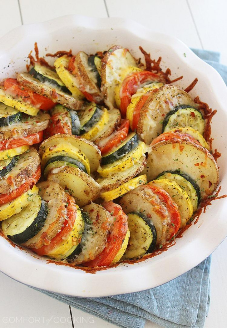 Parmesan Vegetable Tian - recipes vegetable side dishes healthy