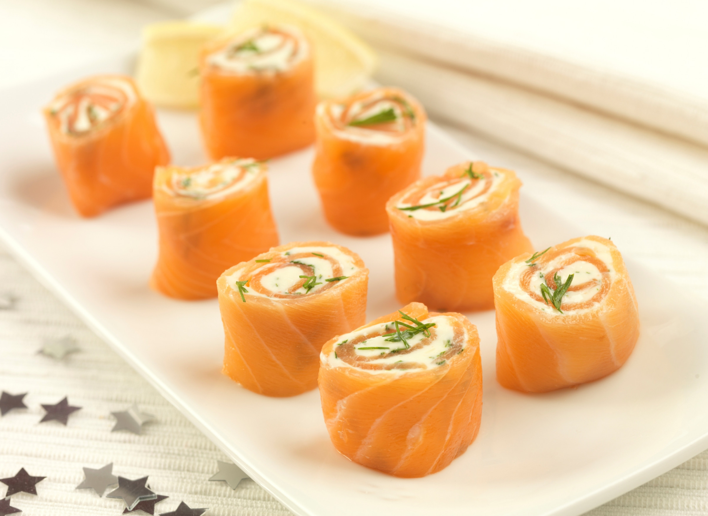 Party Food Recipes : Salmon Pinwheels - In The Playroom - xmas party food recipes
