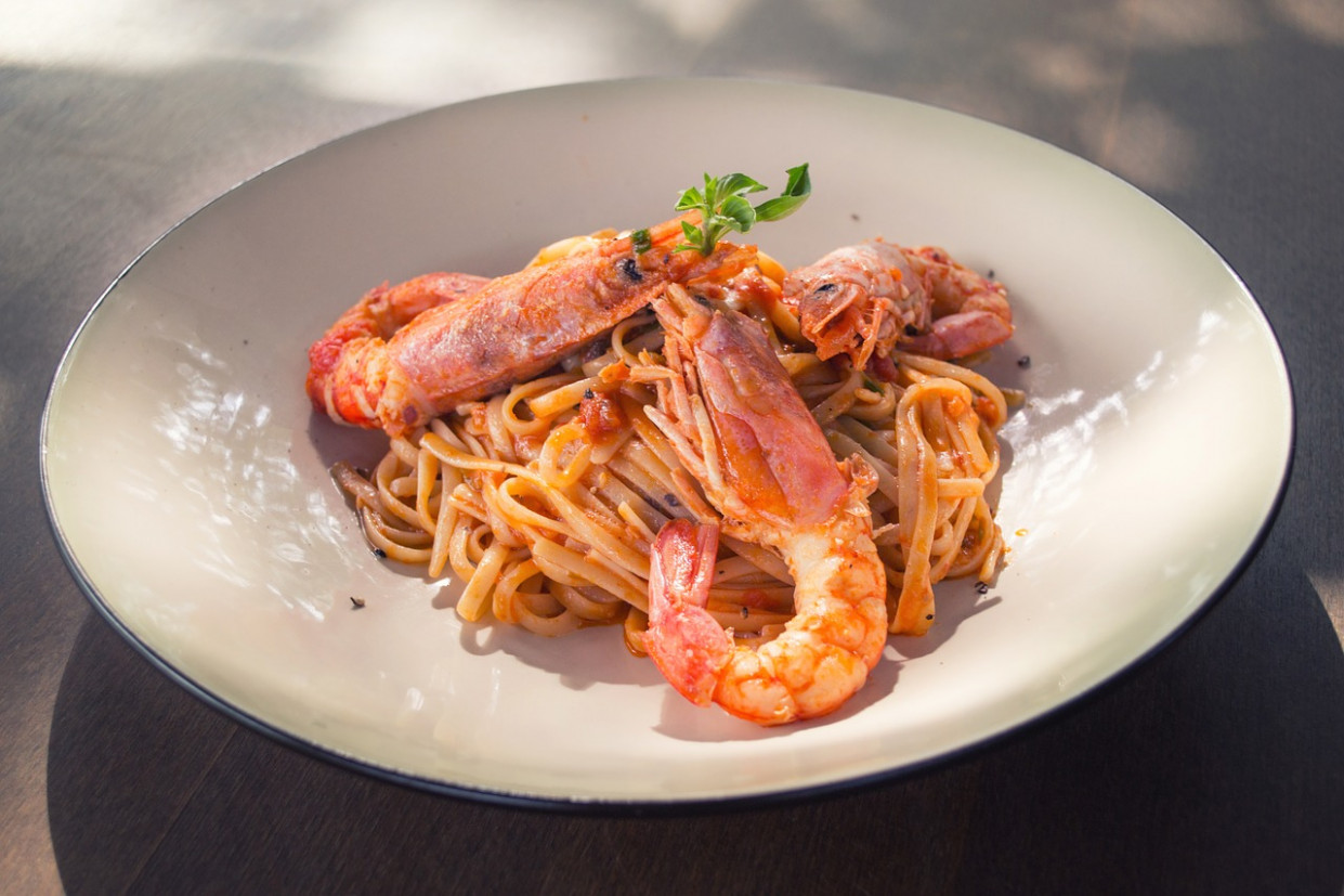 Pasta, Shrimp, Prawns, Food, Tasty - healthy recipes shrimp