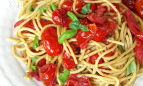 Pasta With Basil & Charred Skillet Tomatoes – Recipes Pasta Vegetarian