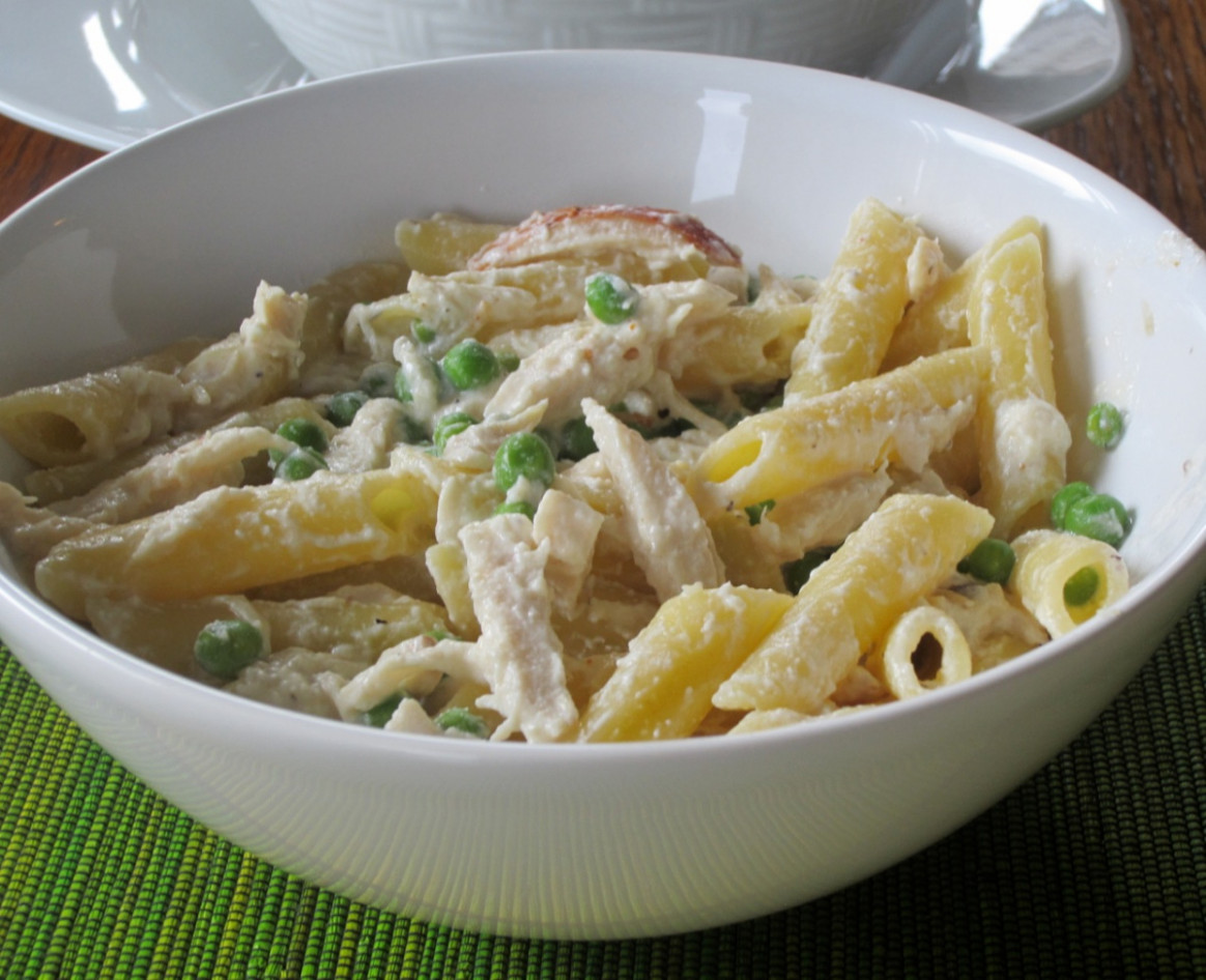 Pasta With Chicken Peas And Sour Cream – My Favourite Pastime - Chicken Recipes Using Sour Cream