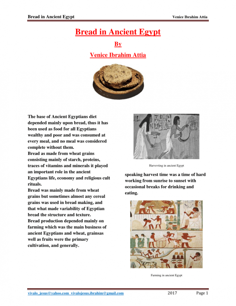 PDF) Bread in Ancient Egypt Bread in Ancient Egypt - ancient egyptian food recipes