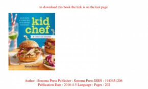 PDF [Download] Kid Chef The Foodie Kids Cookbook Healthy ...