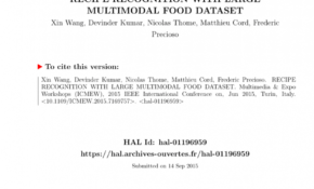 PDF) Recipe Recognition With Large Multimodal Food Dataset – Food Recipes Dataset