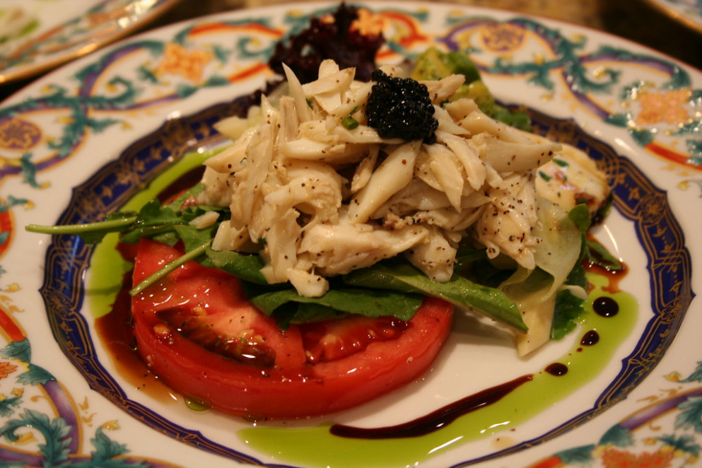 Pea Patch Tomato & Blue Crab Salad - recipes and food delivery