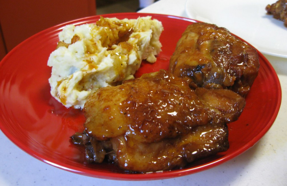 Peach Whiskey BBQ Chicken - Chicken Recipes Ree Drummond