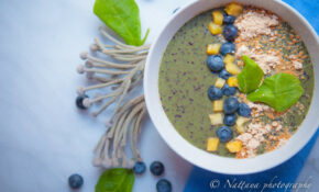 Peanut, Blueberries, Spinach And Pineapple Smoothie Bowl Recipe – Recipes Light And Healthy