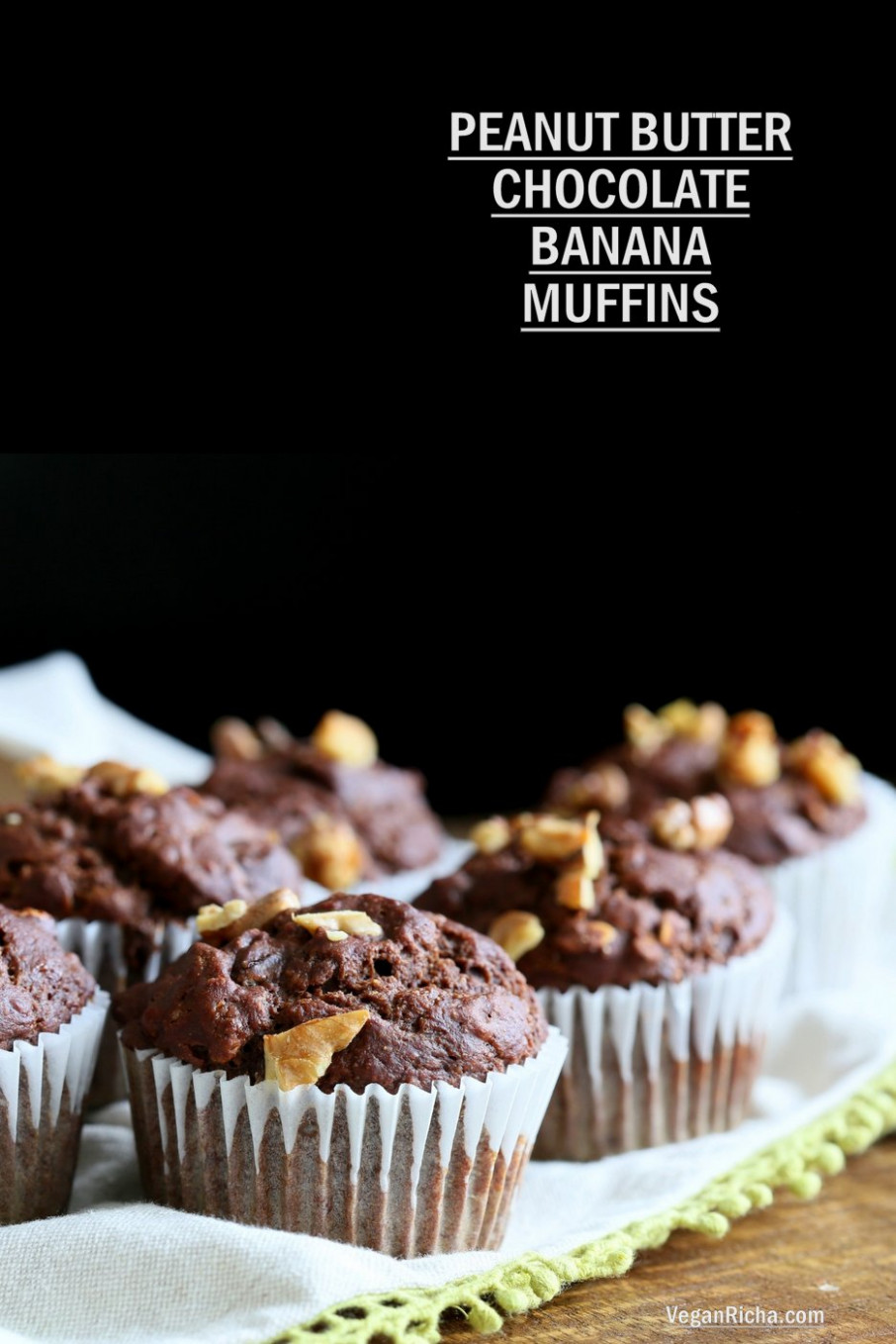 Peanut Butter Chocolate Banana Muffins - recipes banana muffins healthy