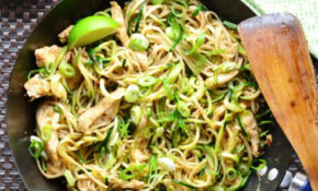 Peanut Hoisin Chicken Stir Fry With Veggie Noodles ..