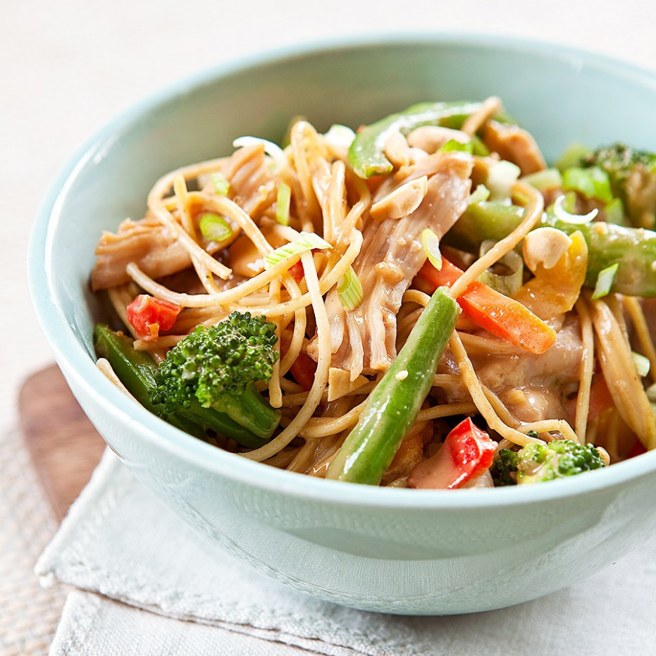 Peanut Noodles with Chicken and Vegetables - noodle recipes chicken