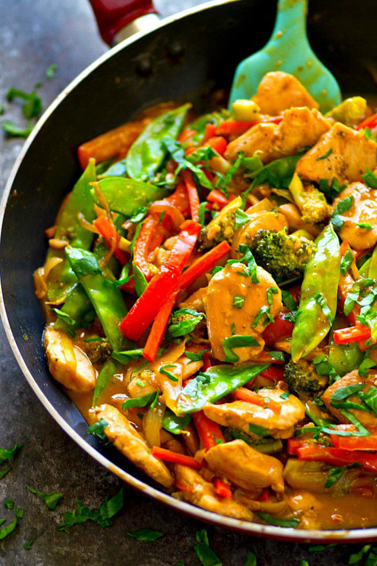 Peanut Satay Chicken Stir-Fry - recipes satay chicken