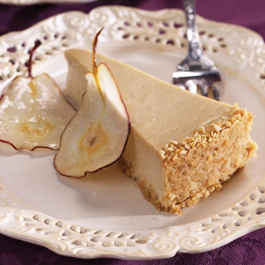 Pear & Ginger Cheesecake Recipe - EatingWell - healthy recipes sweet