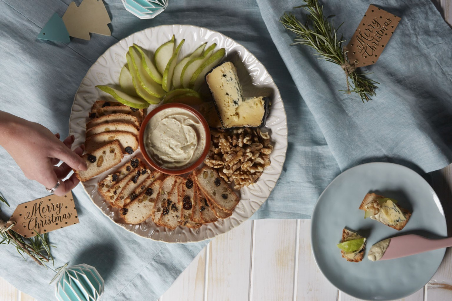 Pear, Walnut And Blue Cheese Grazing Platter - Eat Love Share - Recipes For Leftover Chicken