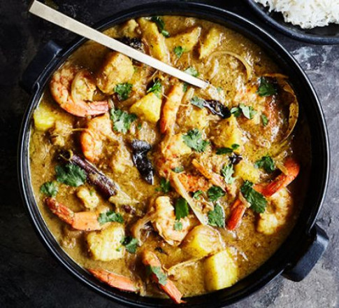 Penang prawn & pineapple curry recipe | BBC Good Food - healthy recipes bbc