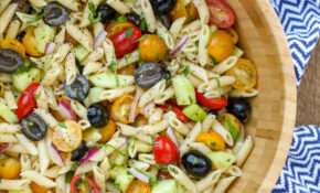 Penne Pasta Salad With Tomatoes, Cucumbers, And Olives – Recipes Vegetarian Italian