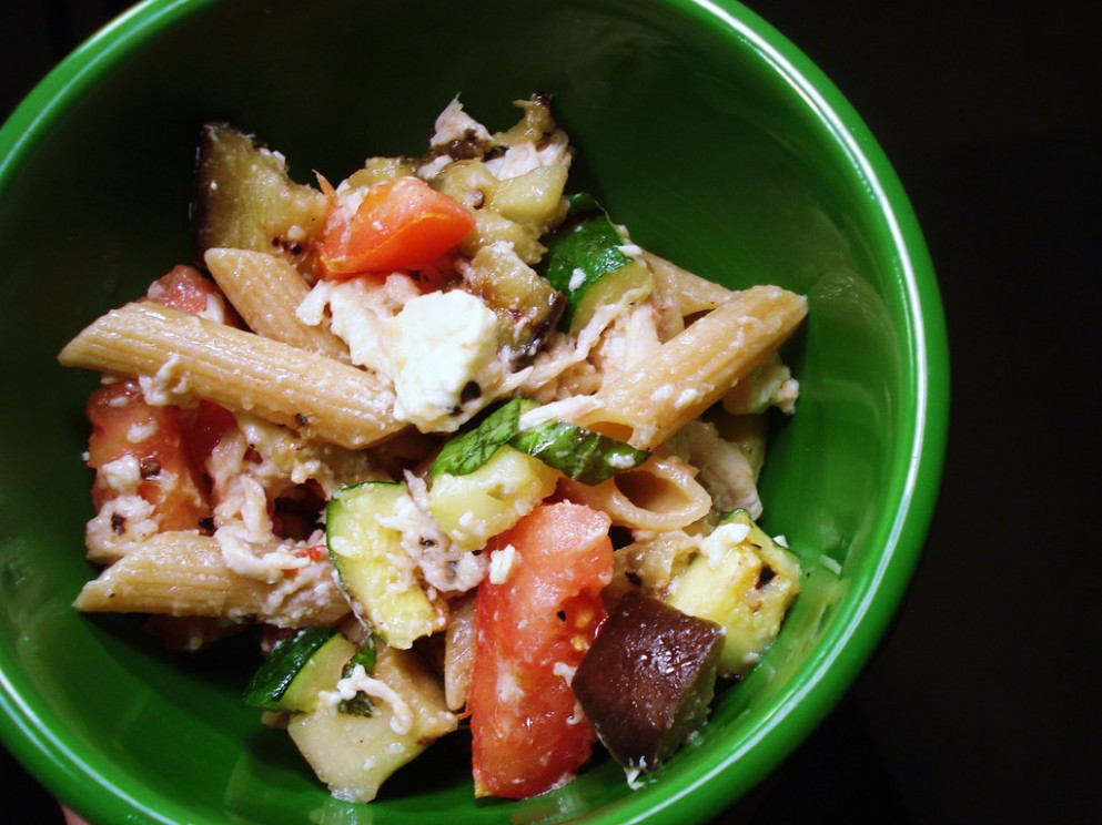 Penne with Grilled Eggplant and Zucchini - zucchini flower recipes healthy