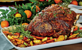 Peppercorn Crusted Standing Rib Roast With Roasted Vegetables – Recipes Roast Dinner