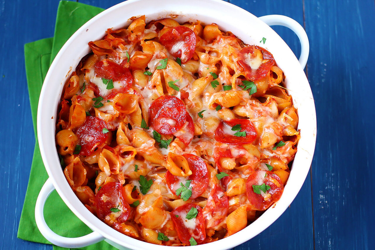 Pepperoni Pasta Bake - pasta bake recipes vegetarian