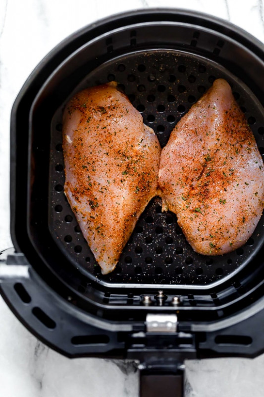 Perfect Air Fryer Chicken Breast – No Breading! - Skinnytaste - recipes air fryer chicken breast