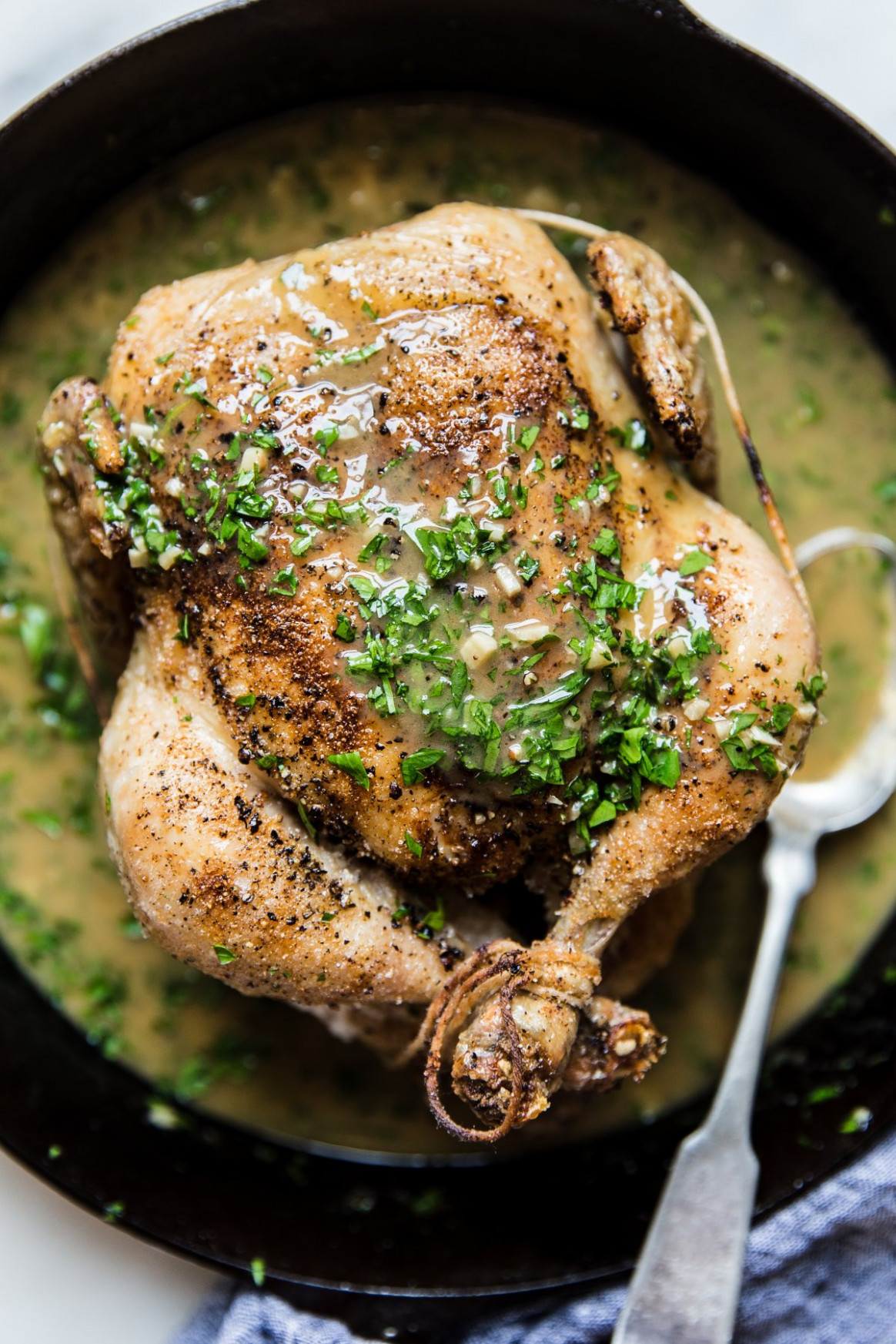 Perfect Roast Chicken with Lemon Herb Pan Sauce - recipes with whole chicken