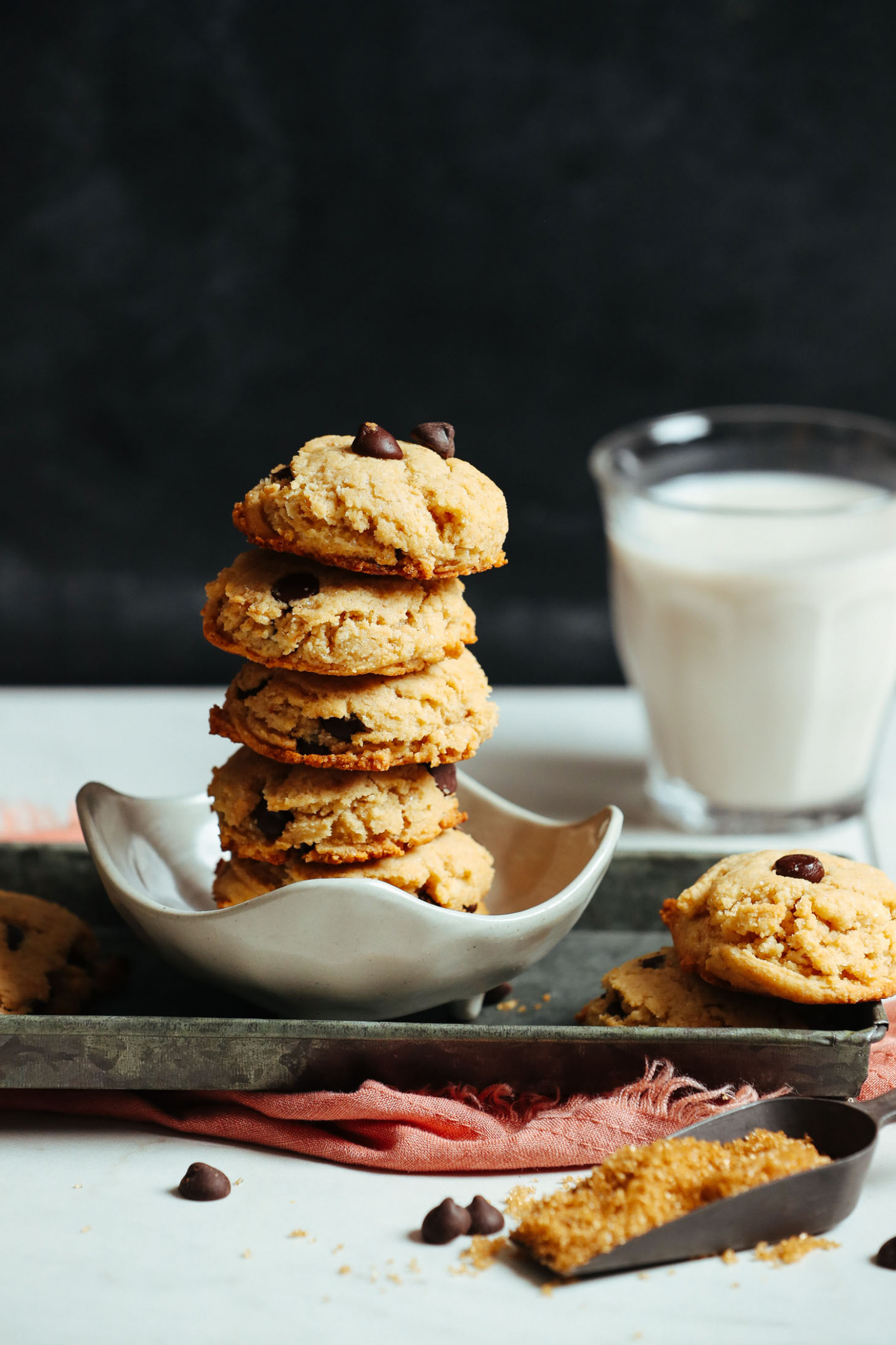 Perfect Vegan Gluten-Free Chocolate Chip Cookies - food recipes cookies