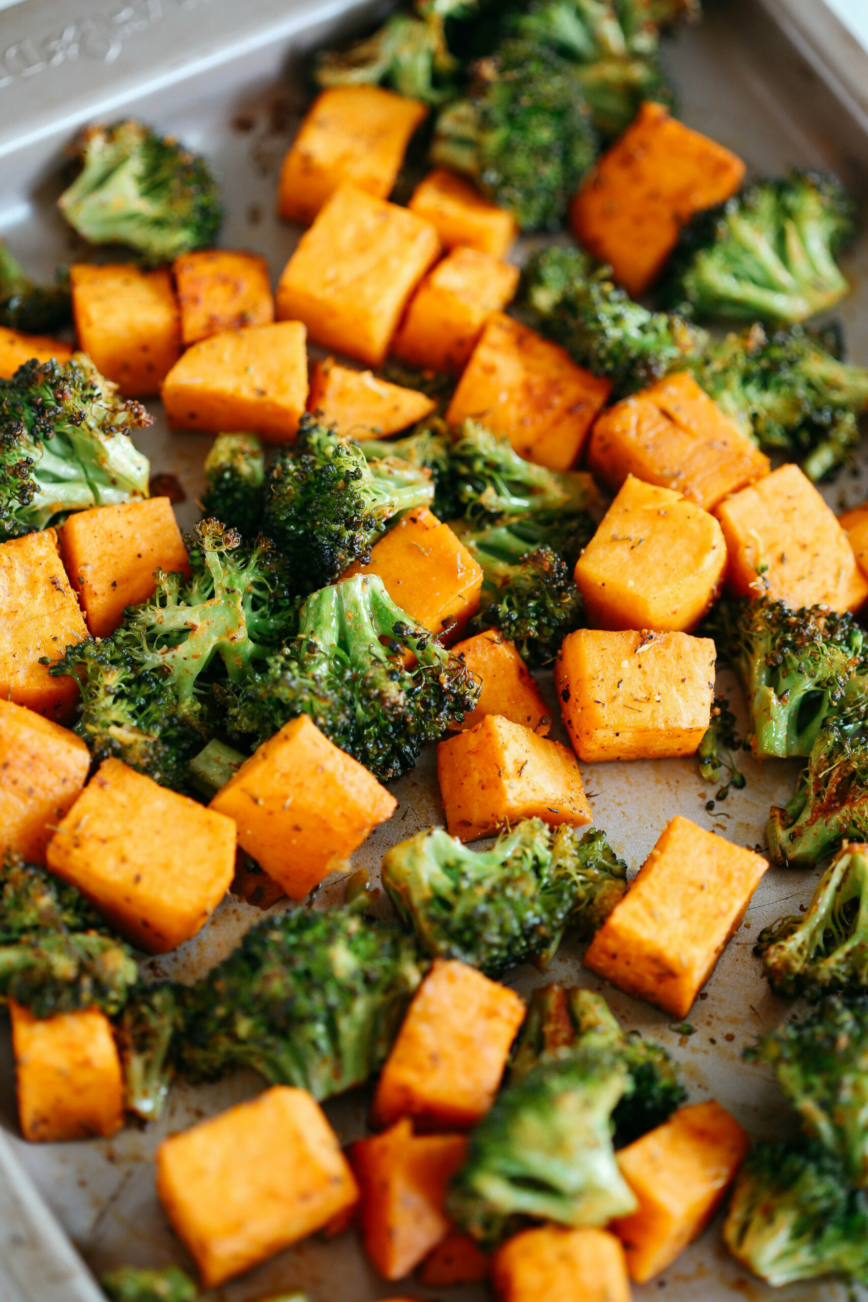 Perfectly Roasted Broccoli & Sweet Potatoes - Healthy Recipes Roasted Vegetables