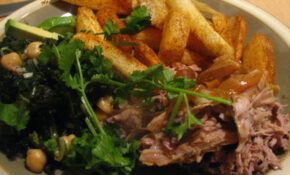 Pernil (Puerto Rican Roasted Pork Shoulder/Butt) With Yucca Fries And Kale With Chickpeas – Recipes Puerto Rican Food