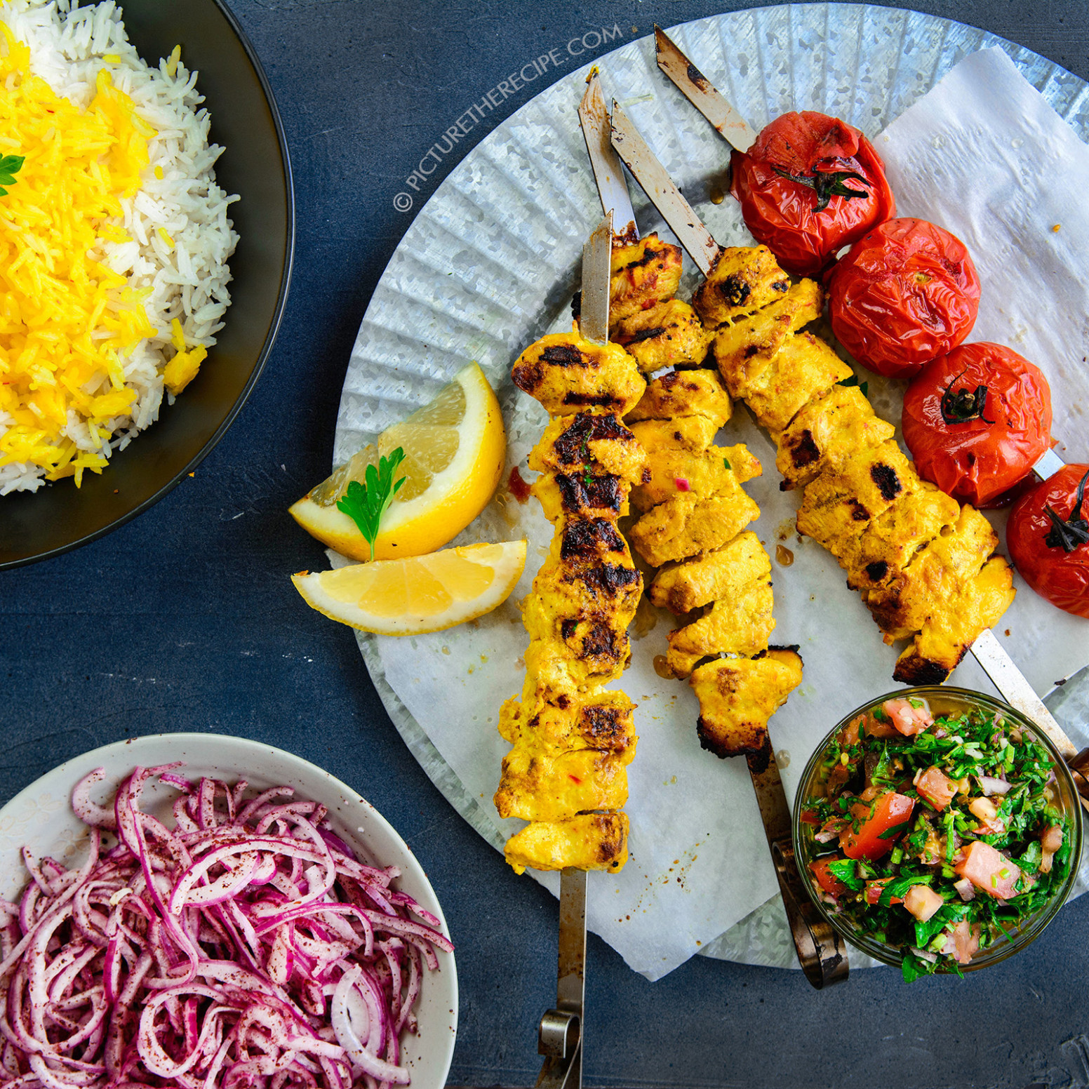 Persian Chicken Joojeh Kebabs - recipes persian food
