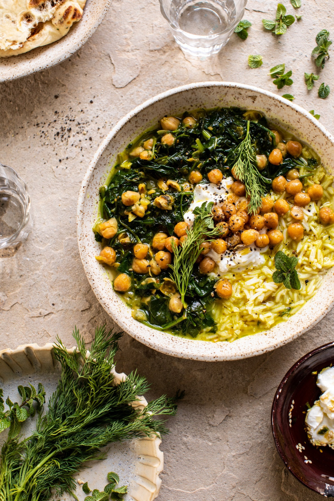 Persian Herb and Chickpea Stew with Rice