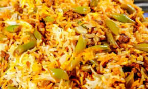 Persian Lubia Polo (Green Bean Rice) – One Pot Rice Recipes Vegetarian Indian