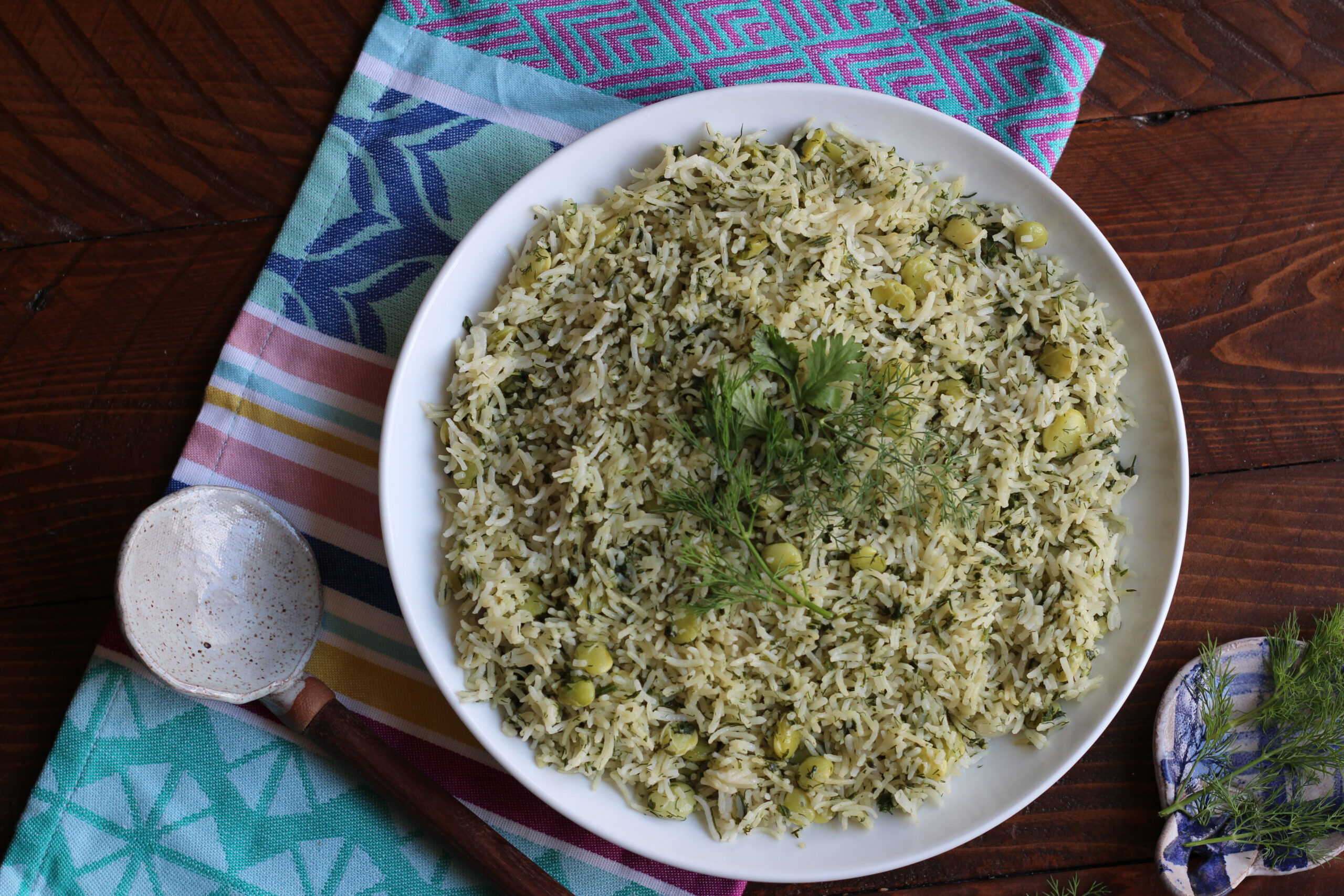 Persian Style Dill Rice Recipe - persian food recipes