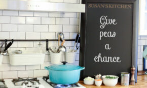 Personalized Chalkboard On A Kitchen Counter Next To Mediterranean Vegetable Pesto Sauce Ingredients Next To A Pot Cooking On A Stove – Recipes Spaghetti Squash Healthy