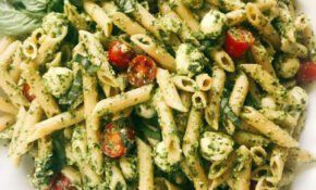 Pesto Caprese Penne Pasta – Pasta Recipes Easy Vegetarian