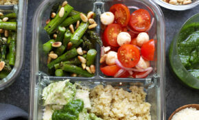 Pesto Chicken Meal Prep Recipe – Fit Foodie Finds – Chicken Recipes Lunch