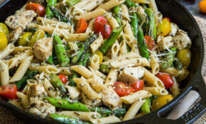 Pesto Chicken Pasta Skillet With Asparagus And Tomatoes – Recipes Asparagus And Chicken