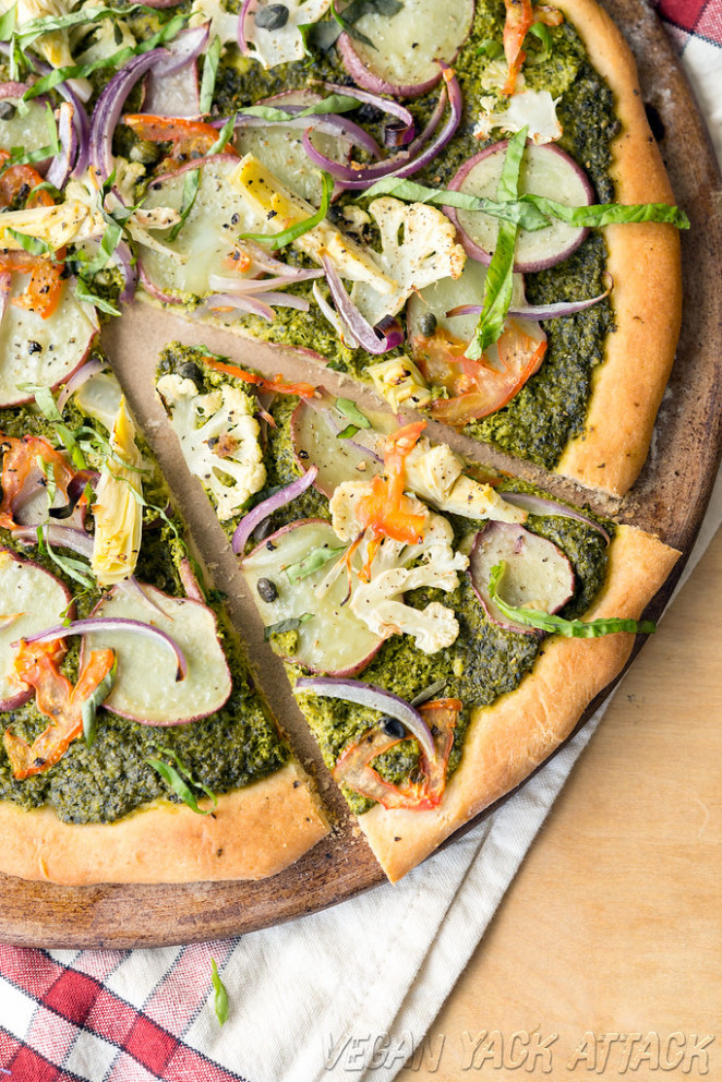 Pesto Potato Pizza - dinner recipes dairy free