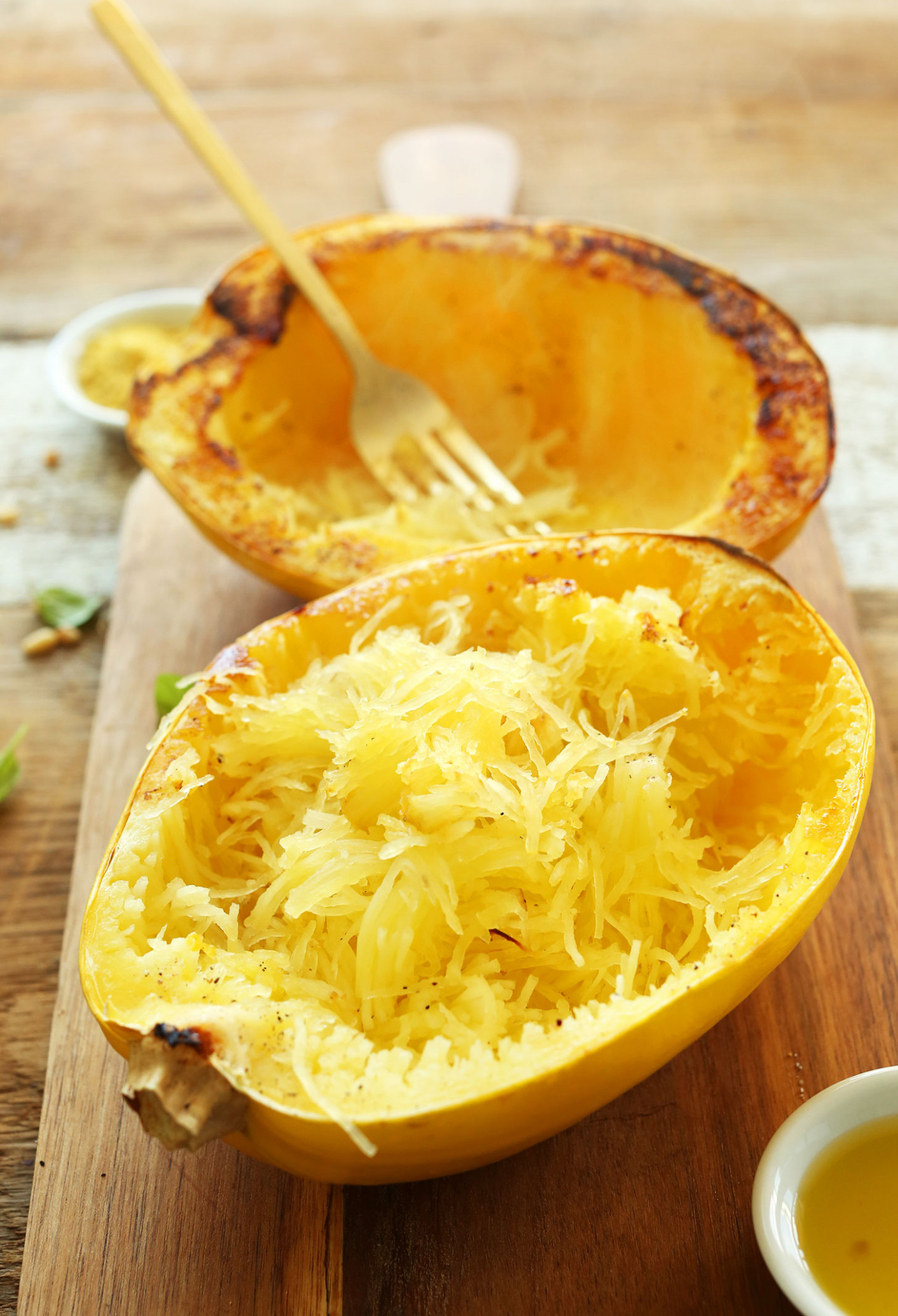 Pesto Spaghetti Squash Pasta | Minimalist Baker Recipes - recipes spaghetti squash healthy
