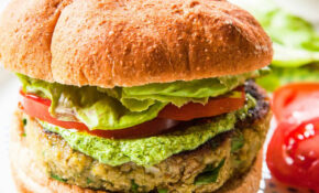 Pesto White Bean Veggie Burgers – Recipe Vegetarian Hamburger