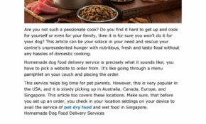 PET FOOD SINGAPORE AND USA By DoggyFriend – Issuu – Food Recipes Usa